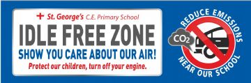 Idle Free Zone banner